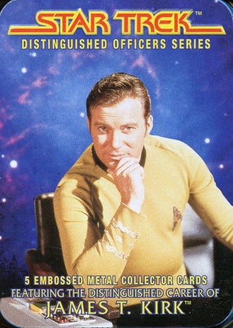 Star Trek Distinguished Officers Tin James T Kirk Metal Collector Cards N/A Star Trek