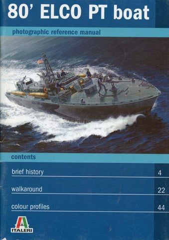 80' ELCO PT Boat Photographic Reference Manual Italeri Reference Book U1 N/A Italeri