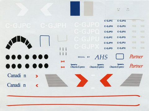 Airline Hobby Supplies 1:72 Canadian Partner Bae 3100 Jetstream 31 Decal AHS7008 N/A Airline_Hobby_Supplies