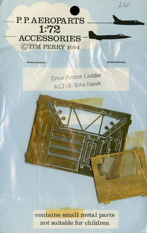 PP Aeroparts 1:72 Crew Access Ladders BAe Hawk PE Detail Set #AL716 N/A PP_Models
