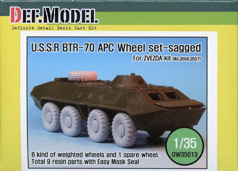 DEF Model 1:35 BTR-70 APC Sagged Wheel Set (for Zvezda) #DW35013 N/A DEF_Model