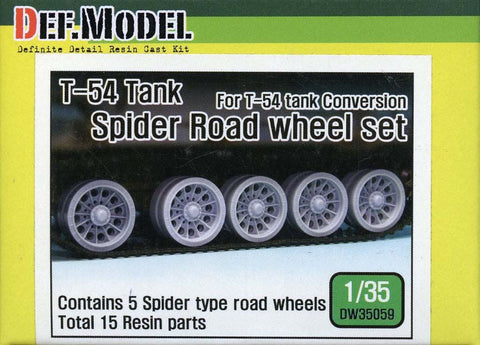 DEF Model 1:35 T-54 Tank Spider Road Wheel Set (5 sets) #DW35059 N/A DEF_Model