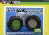 DEF Model 1:35 German LGS Fenneck Sagged Wheel Set Trumpeter #DW35062 N/A DEF_Model