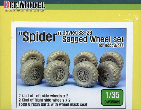 DEF Model 1:35 Soviet SS-23 Spider Sagged Wheel Set for HobbyBoss #DW35089 N/A DEF_Model