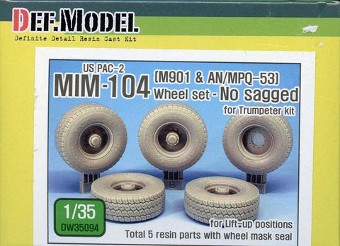 DEF Model 1:35 US MIM-104 M901 AN/MPQ-53 Wheels No sagged for Trumpeter #DW35094 N/A DEF_Model