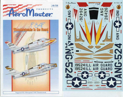 Aero Master Decals 1:48 F-84 F Thunderstreaks in the Guard Pt.II #48-728 N/A Aero_Master_Decals