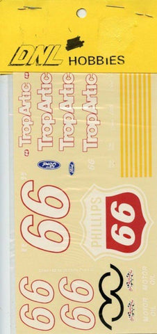DNL Hobbies 1:24 1:25 #66 Tropartic Phillips Ford NASCAR Decal N/A JNJ_Hobbies