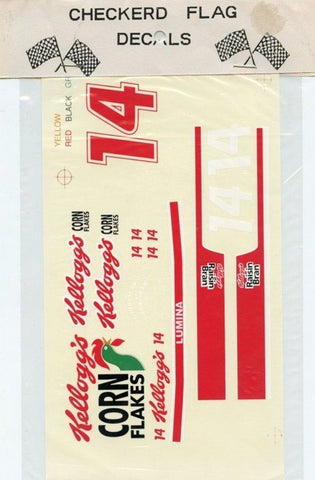 Checkered Flag #14 Kelloggs Lumina-Terry Labonte NASCAR Decal N/A Checkered_Flag