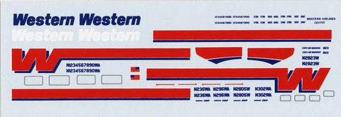 ATP 1:200 Wetsern Boeing Airlines 727/737 Decal Sheet #200AD18U N/A ATP