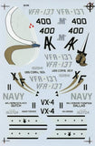 SuperScale Decals 1:32 F/A-18 Hornets VFA-137 CAG VX-4 Decal Set #32-83 N/A SuperScale_Decals