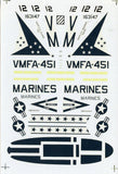 SuperScale Decals 1:32 F/A-18 A Hornet VMFA-451 Warlords Decal Sheet #32-114 N/A SuperScale_Decals