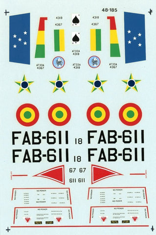 Microscale Decals 1:48 T-33's of the Bolivian and Brazilian Air Forces #48-185 N/A Microscale_Decals