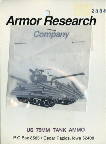 Armor Research Company 1:35 US 75mm Tank Ammo White Metal Detail Set #2004 N/A Armor_Research_Company