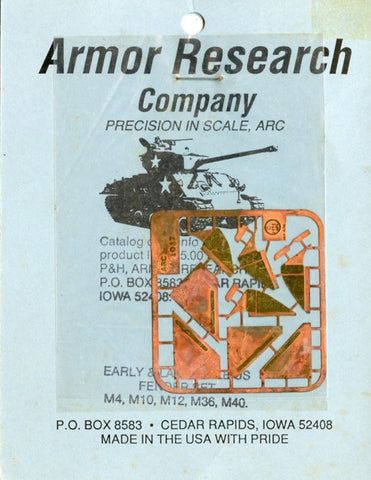 Armor Research Company 1:35 Early & Late US Fender Set M4,M10,M12,M36,M40 #1017 N/A Armor_Research_Company