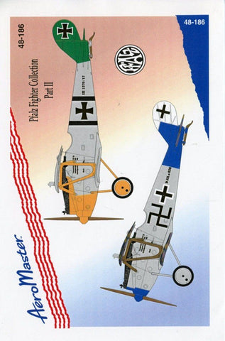 Aero Master Decals 1:48 Pfalz Fighter Collection Part II Decal Sheet #48-186 N/A Aero_Master_Decals