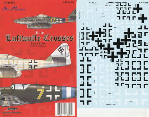 Aero Master Decals 1:48 Late Luftwaffe Crosses 600mm to 2000mm #AN48806 #48-806 N/A Aero_Master_Decals