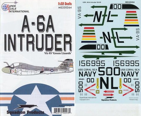 SuperScale Decals 1:32 A-6A Intruder VA-95 Green Lizards #MS320264 N/A SuperScale_Decals