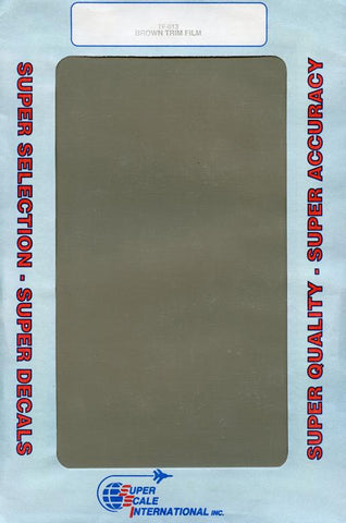 SuperScale Decals 1:32 1:48 1:72 Brown Trim Film #TF-013 N/A SuperScale_Decals