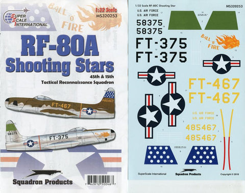 SuperScale Decals 1:32 RF-80A Shooting Stars 45th 15th Tactical Squad, #MS320253 N/A SuperScale_Decals