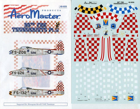 Aero Master Decals 1:48 86th FBG Thunderjets Part II Decal Set #48-609 N/A Aero_Master_Decals