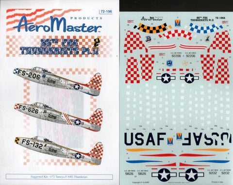 Aero Master Decals 1:72 86th FBG Thunderjets Pt. II #72-196 N/A Aero Master Decals