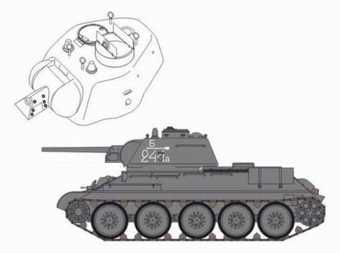 CMK 1:35 T-34/85 Model 1943 Conversion Set for Tamiya Resin set #3070 N/A CMK