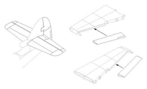 CMK 1:48 Hawker Sea Hawk Control Surfaces Set For Trumpeter Resin #4212 N/A CMK