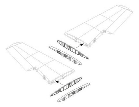 CMK 1:48 Hawker Sea Hawk Wing Fold Set For Trumpeter Resin #4214 N/A CMK