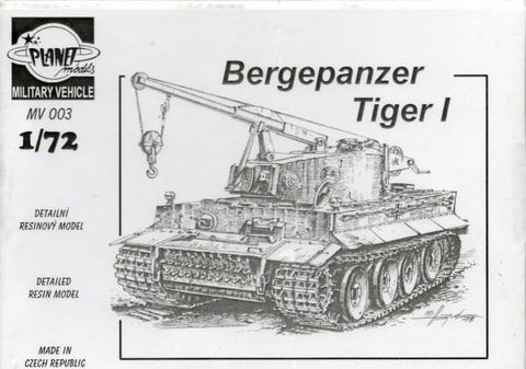 Planet Models 1:72 German Bergepanzer Tiger I Recovery Vehicle Resin Kit #MV003 N/A Planet Models