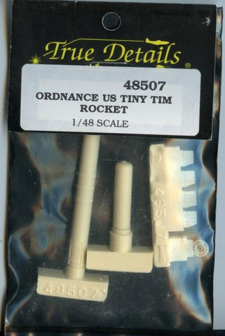 True Details 1:48 Ordnance US Tiny Tim Rocket Resin Set #48507**