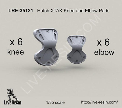 Live Resin 1:35 X-Tak Knee and Elbow Pads - Resin Detail #LRE35121 N/A Live Resin