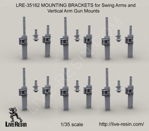 Live Resin 1:35 Mounting Bracket Swing Arms & Vertical Arm Gun Mount #LRE35162 N/A Live Resin