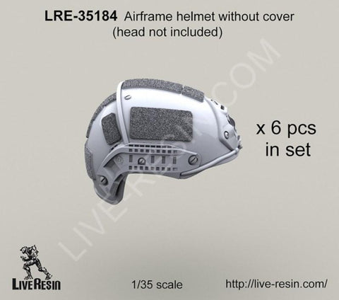 Live Resin 1:35 Airframe Helmet without Helmet Cover - Resin #LRE35184 N/A Live Resin