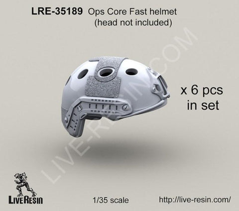 Live Resin 1:35 Ops Core FAST Helmet - Resin Detail Accessory #LRE35189 N/A Live Resin