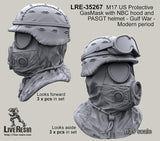 Live Resin 1:35 M17 US Protective Gasmask W NBC Hood #3 - Resin Detail #LRE35267
