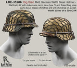 Live Resin 1:35 WWII German M42 Helmet Stahlhelm Big Size #4 - Resin #LRE35286