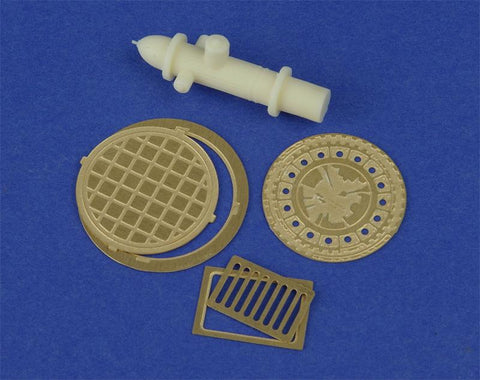 Alliance Model Works 1:35 Drainage, Manhole Covers and Fire Hydrant #LW35052 N/A Alliance Model Works