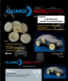 Alliance Model Works 1:35 SdKfz 221 Leichter Panzerspahwagen Wheels #LW35053