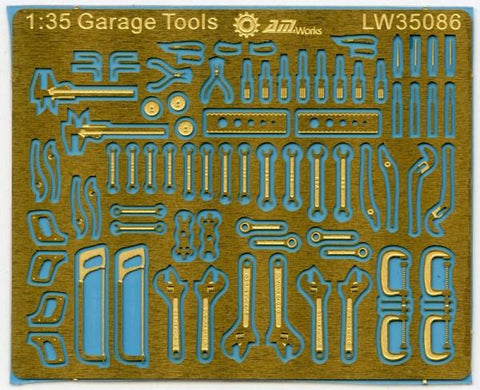 Alliance Model Works 1:35 Scale Mechanic Tools Connectionless PE #LW35086 N/A Alliance Model Works