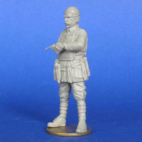 MasterClub 1:35 WWI French Officer w/ Webley Mk.VI Revolver Resin Kit #MCF35218 N/A Master Club