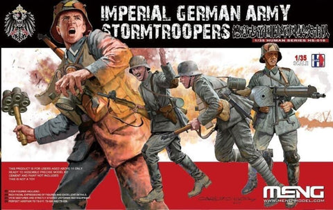 Meng 1:35 Imperial German Army Stormtroopers - 4 Figures Kit #HS010 N/A Meng