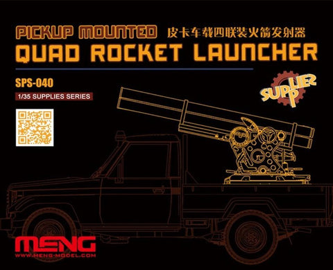 Meng 1:35 Pickup Mounted Quad Rocket Launcher Resin Detail Set #SPS040 N/A Meng
