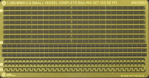 Alliance Model Works 1:350 Ship Railing WWII US Small Vessel Detail Set #NW35003 N/A Alliance Model Works