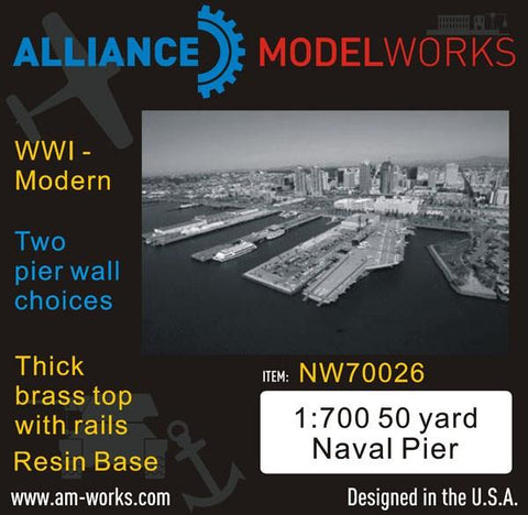 Alliance Model Works 1:700 50 Yard Naval WWI-Modern Pier Wall Choice #NW70026 N/A Alliance Model Works