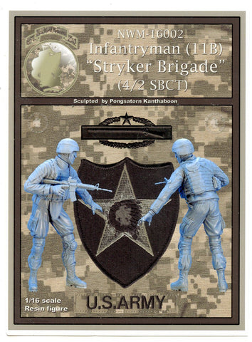 New World Miniatures 1:16 Infantryman 11B Stryker Brigade Figure Set #NWM-16002 N/A New World Miniatures