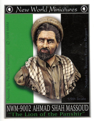 New World Miniatures 1:9 Ahmad Shah Massoud Lion of the Panshir Bust #NWM-9002 N/A New World Miniatures