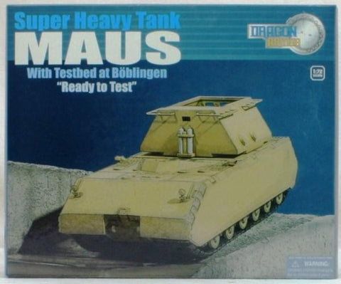 Dragon Armor 1:72 Super Heavy Tank MAUS w/Testbed Boblingen Ready Armour #60323 N/A Dragon Armor