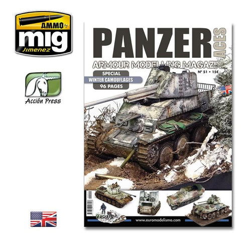 WARNING. This book is only in ENGLISH language. Here is the new issue of Panzer Aces magazine. 96 pages. Issue 51 is focus on Winter Camouflages including