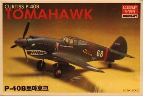 Academy Minicraft 1:72 Curtiss P-40B Tomahawk Plastic Model Kit #1655XU N/A Academy_Minicraft
