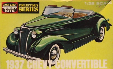 Life Like Hobby 1:32 1937 Chevy Convertible Collectir Plastic Model Kit #09299U N/A Life_Like_Hobby_Kits